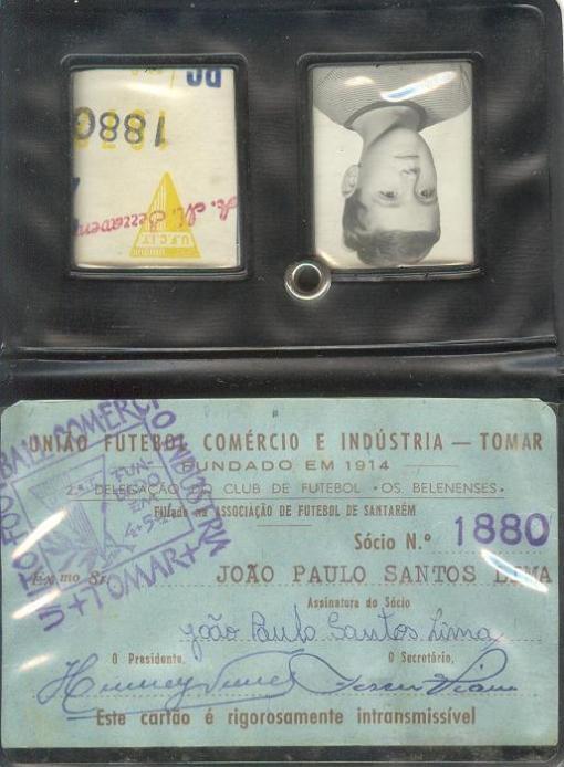 Cartão Sócio - 1968