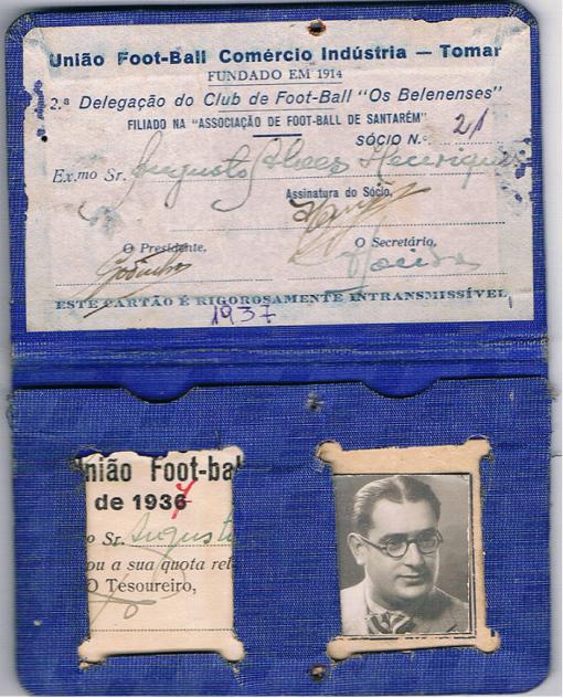 Cartao socio - 1936